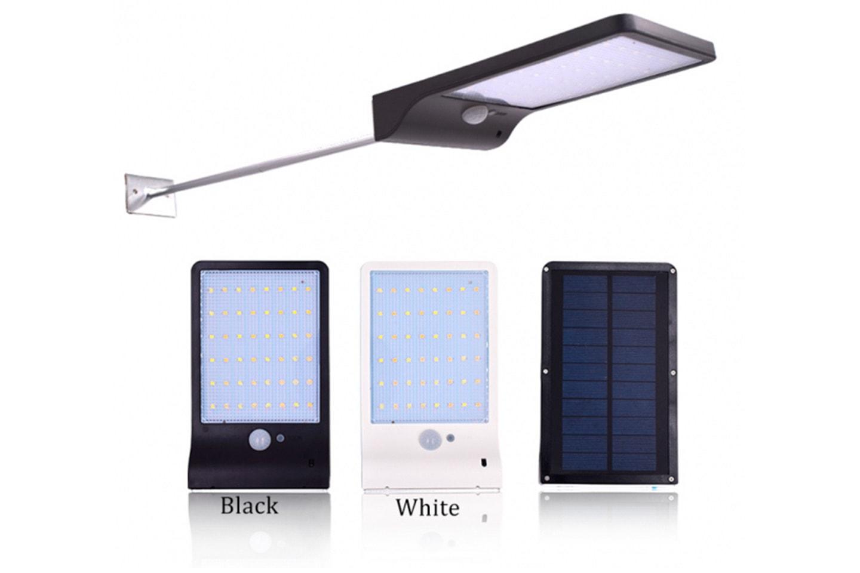 Utendørs solcellelampe med 48 stk. LED-lys