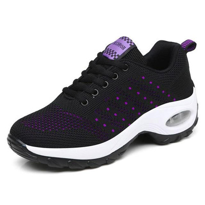 Svart/Lila, 35, Women Lightweight Lace Up Shoes, Träningsskor i dammodell, ,  (1 av 1)