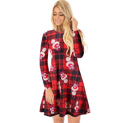 L, Rødt Reinsdyr, Christmas Dress, Julekjole, ,  (1 av 1)