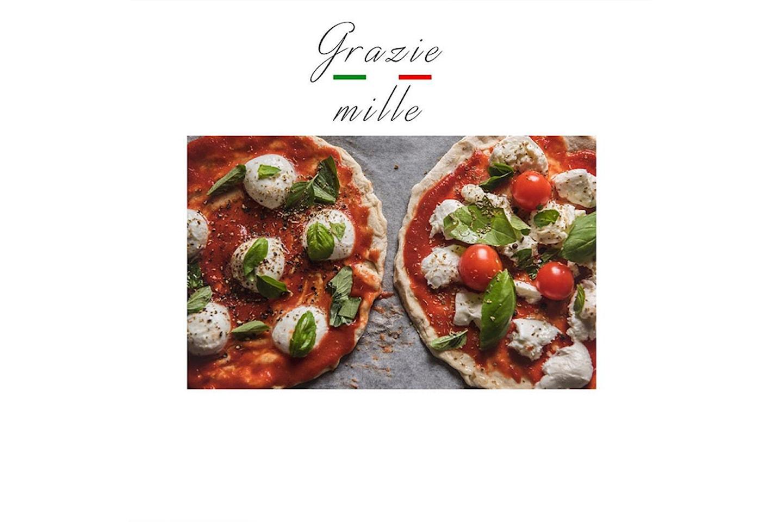 Nyt en herlig valgfri takeaway pizza fra Grazie Mille på Majorstua