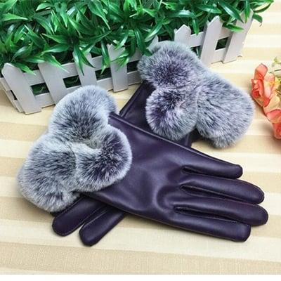 Lilla, Thick Warm Gloves, Fôrede skinnhansker,  (1 av 1)