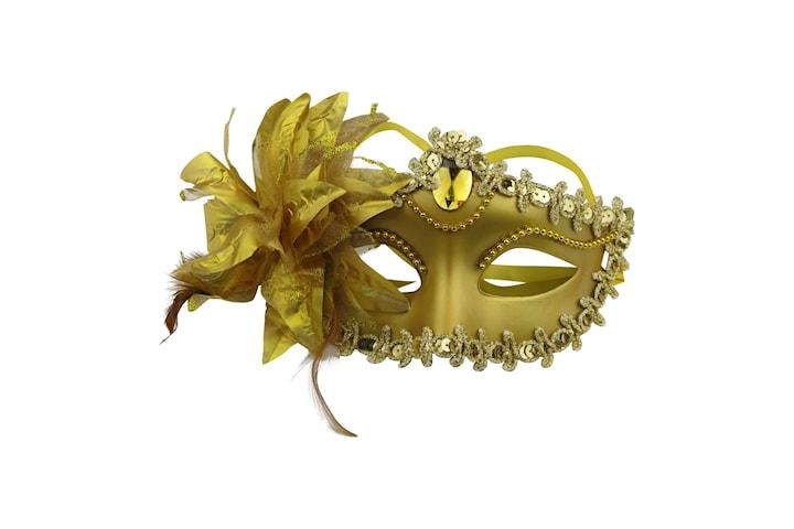 Elegant Venetian Maske - Maskerade Halloween - Gull