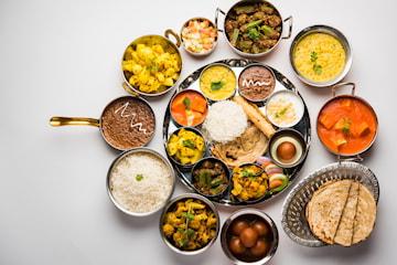 Tre indiska rätter hos Restaurang Saffran på Kungsholmen