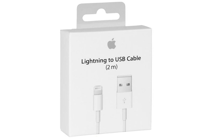 Apple Lightning kabel, USB till Lightning, 2m, vit, MD819ZM/A