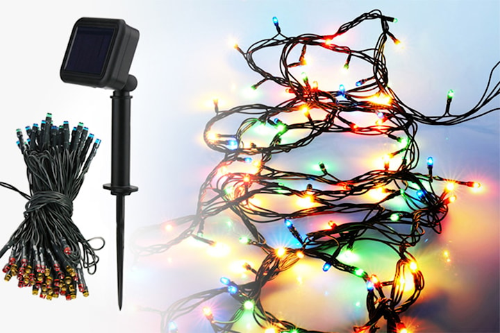 Solcellsdriven LED-slinga
