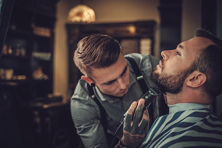 Klippning med eller utan skäggtrimning