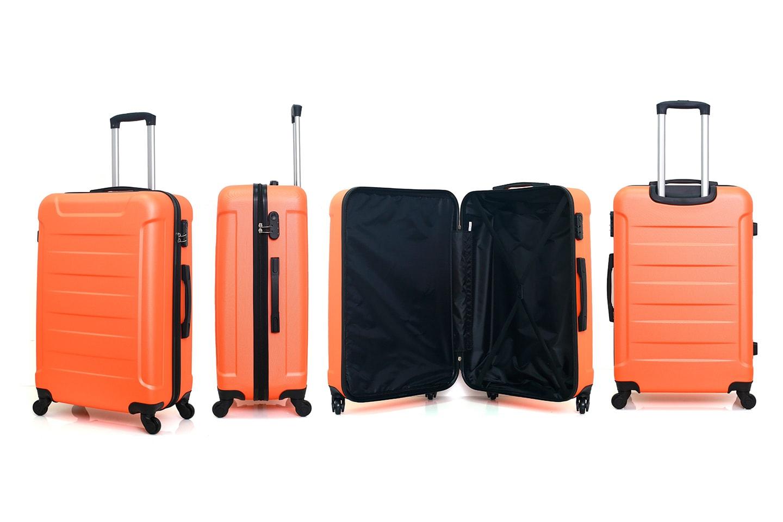 Resväska, set med tre väskor i olika storlekar