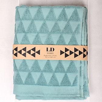 Grön, LD Terry Towel set Triangular design, Handduksset från LD Terry. 2 stora, 2 små., ,