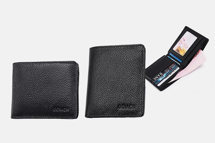 Lommebok i ekte skinn