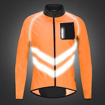 Orange, M, V-Stripes, Windproof cycling jacket, Cykeljacka med reflex, ,