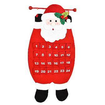 Santa Claus, Christmas Calender, Julekalender med 24 lommer, ,