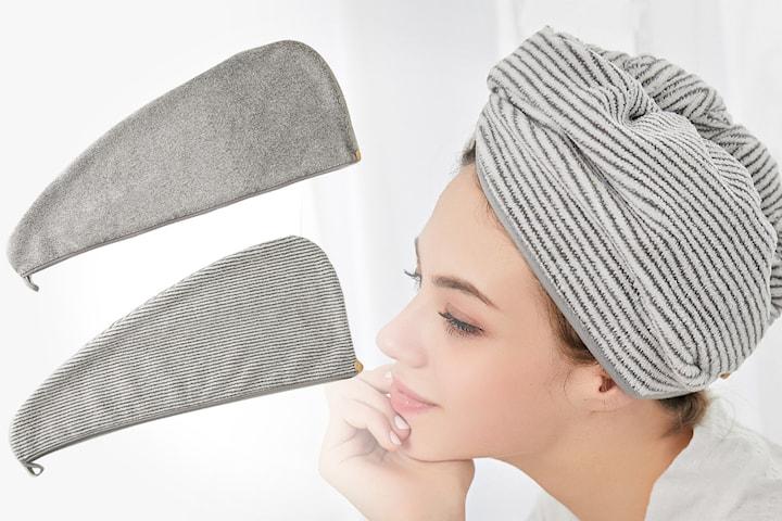 Hurtigtørkende håndkle for håret