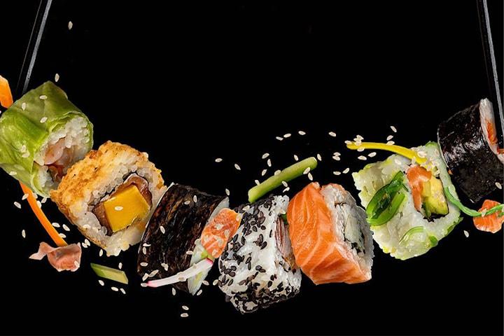 14 biter sushi hos Sushi Nam Nam på Horisont senter