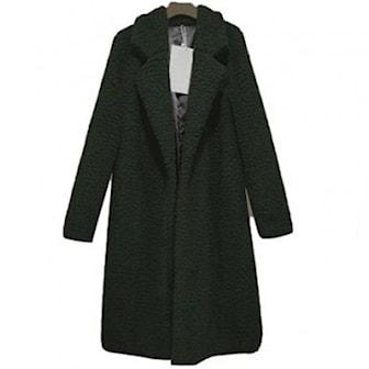 Militærgrønn, 3XL, Teddy Fleece Coat, Teddy fleecejakke, ,