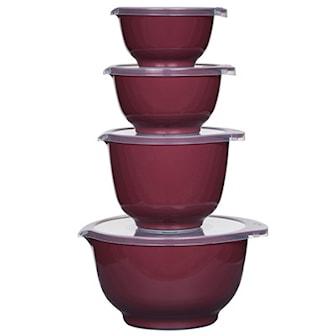 Nordic Berry, 8dels set med Margretheskålar från Rosti Mepal , Rosti Mepal Margretheskålar med lock 4-pack, ,