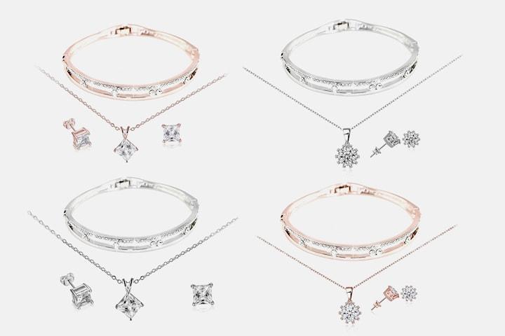 Astra eller Cassi smyckeset med Swarovski-kristaller