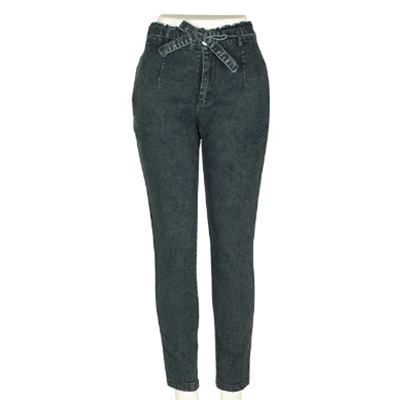Grå, M, Stretchy Skinny High Waist Jeans, Skinny jeans,  (1 av 1)