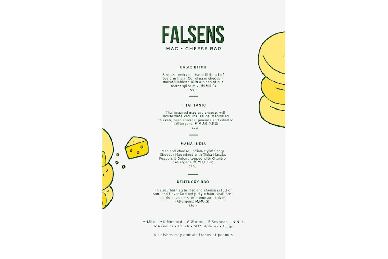 Nyt en herlig mac & cheese hos Falsens Mac & Cheese