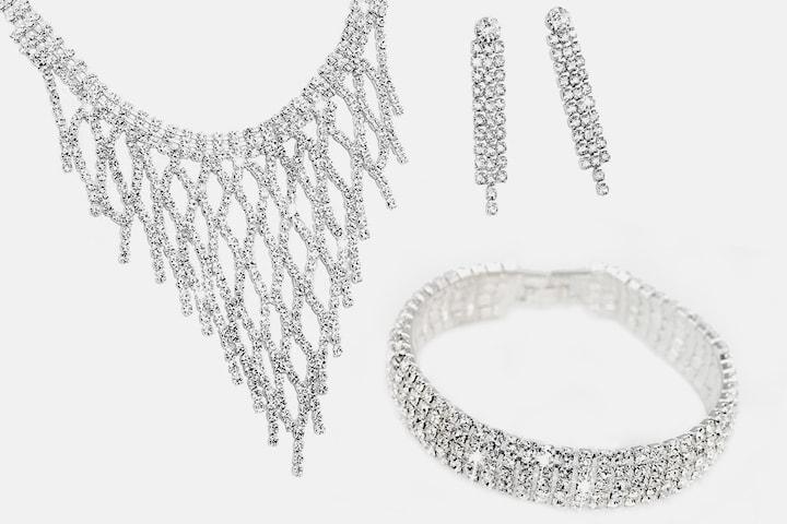 Sibyl smykkesett med Swarovski-krystaller