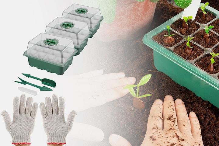 3-set mini-växthus