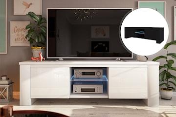 Jackson  tv-bänk med LED-belysning