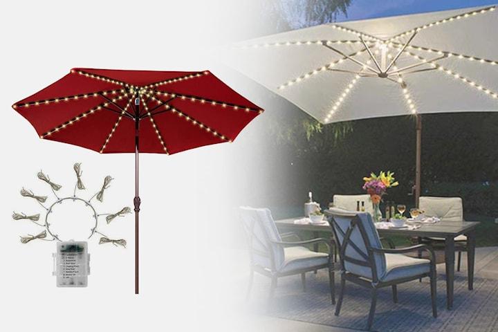 Dimbar ljusslinga för parasoll