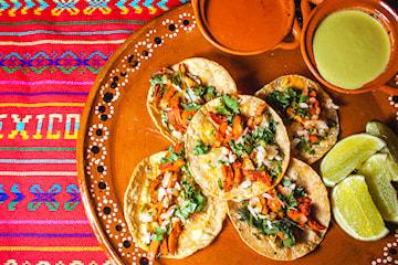 Tacos inkl. öl/vin på Café Strand Latino