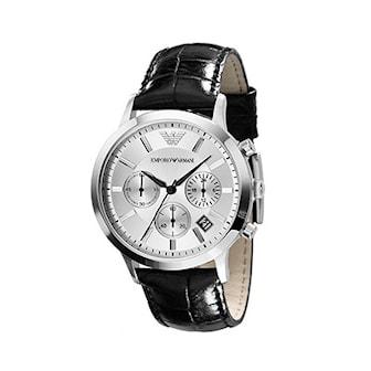 AR2432, AR2432, Armband: Svart färg, äkta läder. Urtavla: 43 mm,