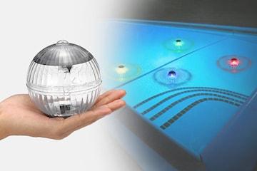 Flytende LED-lys med solcelle