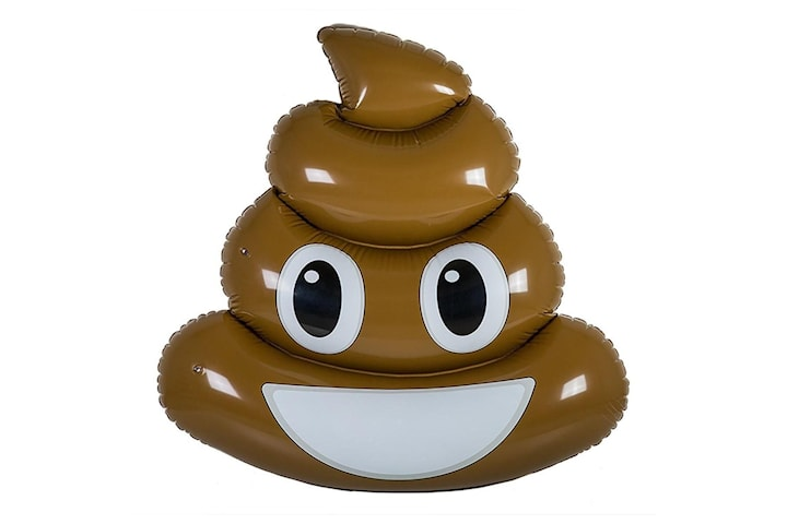 Oppblåsbar Badeleketøy - Bæsj Emoji