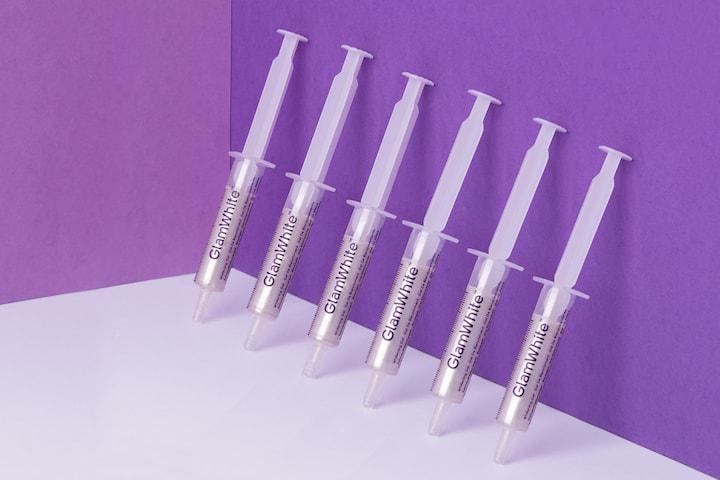 GlamWhite tandblekning refill kit 2-pack