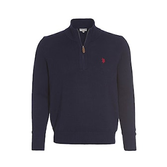 Marinblå, M, US Polo Zip Troyer Pullovers, US Polo, zip-modell, ,