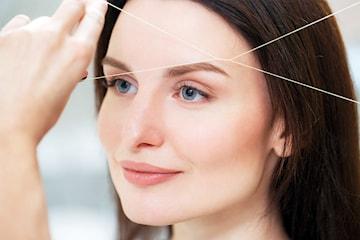 Trådning, formning och styling av ögonbryn