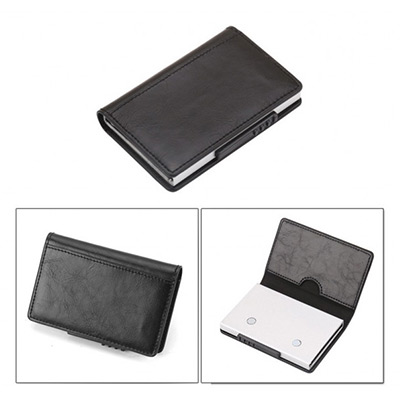 Svart, Card Holder With Button, Kortholder, ,  (1 av 1)