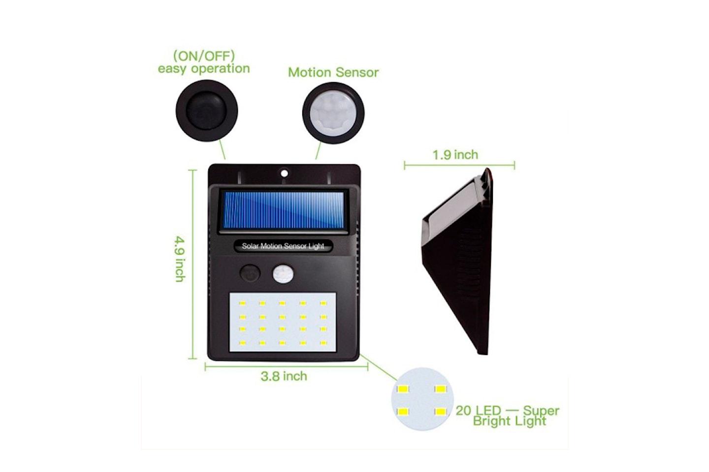 Utendørs solcellelampe