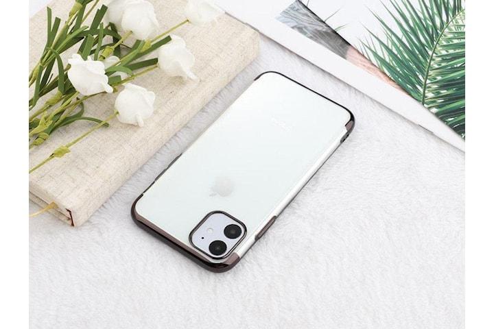 Elektropläterat TPU-skal iPhone 12/12 Pro med två skärmskydd.