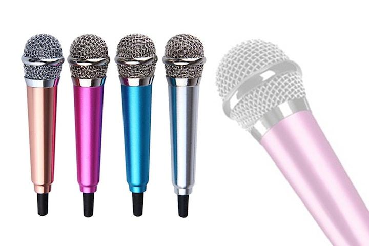 Mini-mikrofon med hörlurar