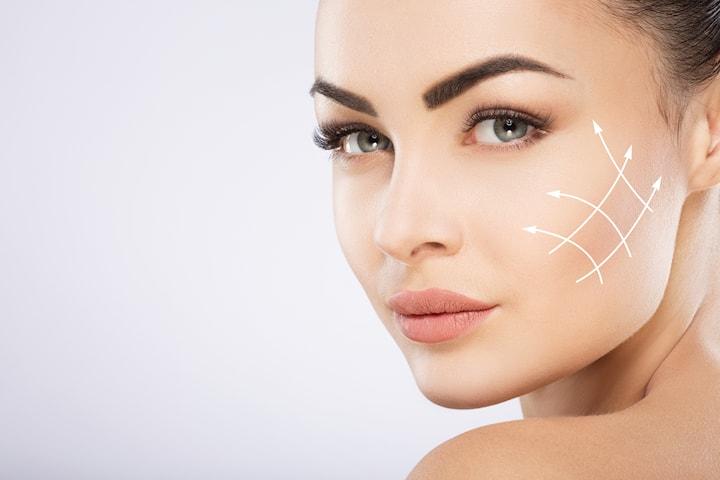 Icke-kirurgiskt ansiktslyft med radiofrekvens och hudslipning