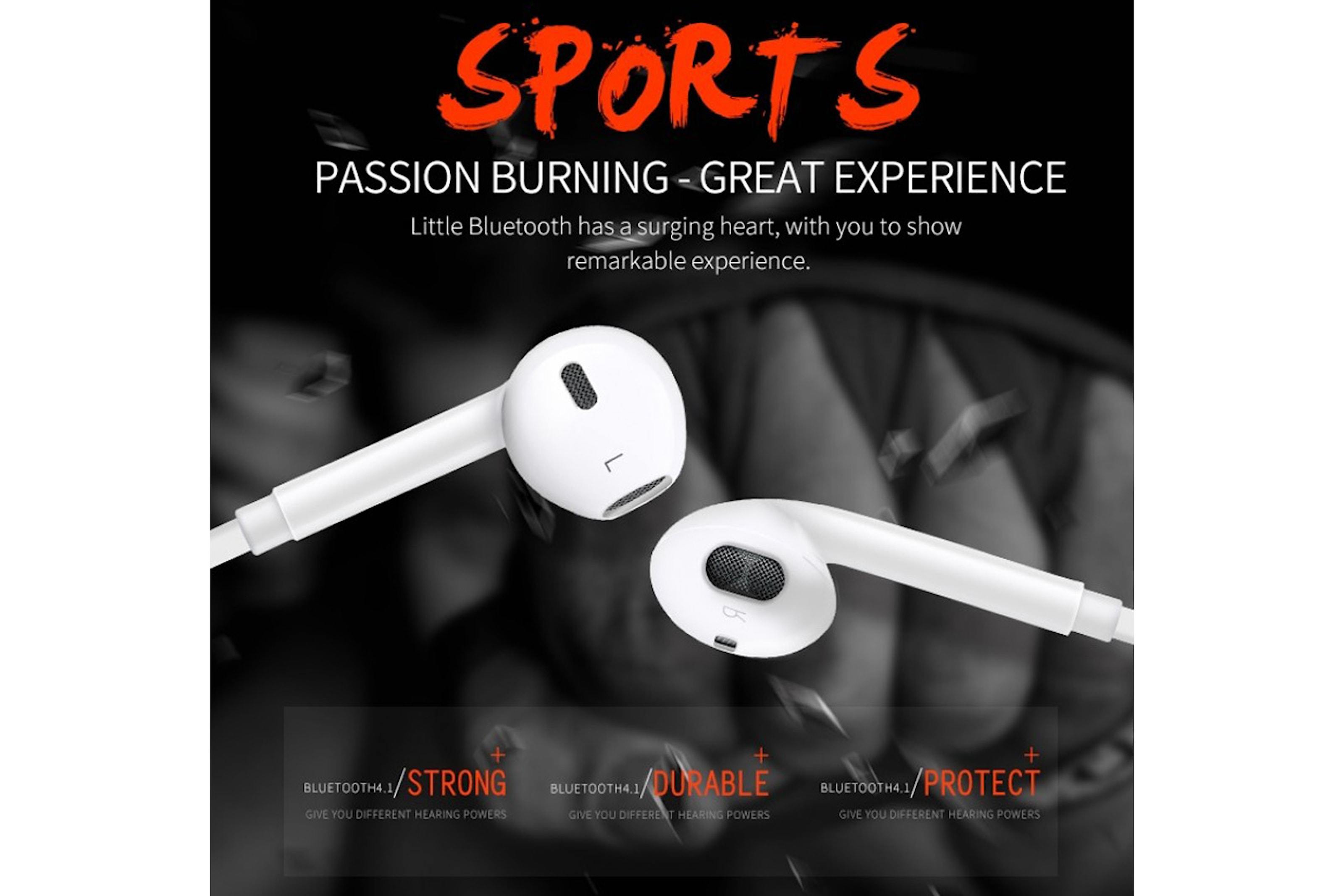 Bluetooth ear-buds til trening