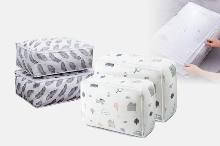Förvaringspåse med mönster 2-pack