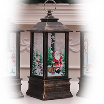 Dark Brown/Santa Claus, Christmas Decoration Hanging Candlestick, Julelys dekorasjon, ,