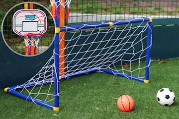 2-i-1 fotball- og basketballsett