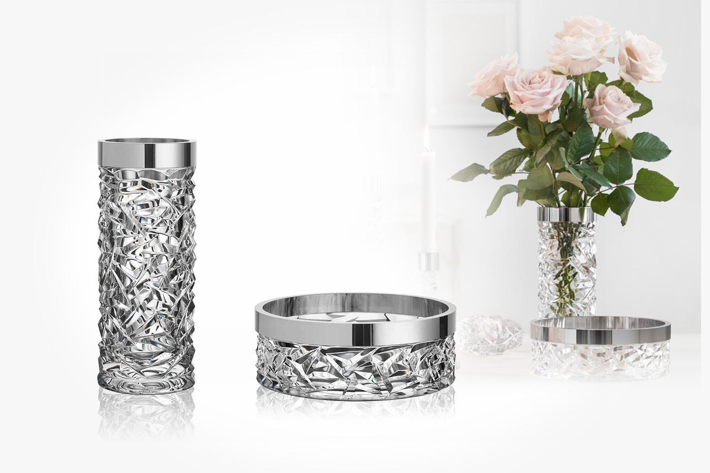 Elegant skål och vas från Orrefors (1 av 4)