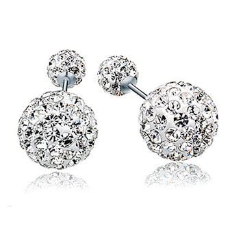 Bella, Classic Pearl and Crystal Earrings , Bella, ,