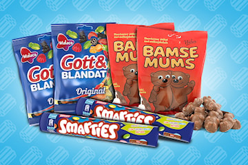 Godteri pakke: Godt & Blandet, BamseMums og Smarties