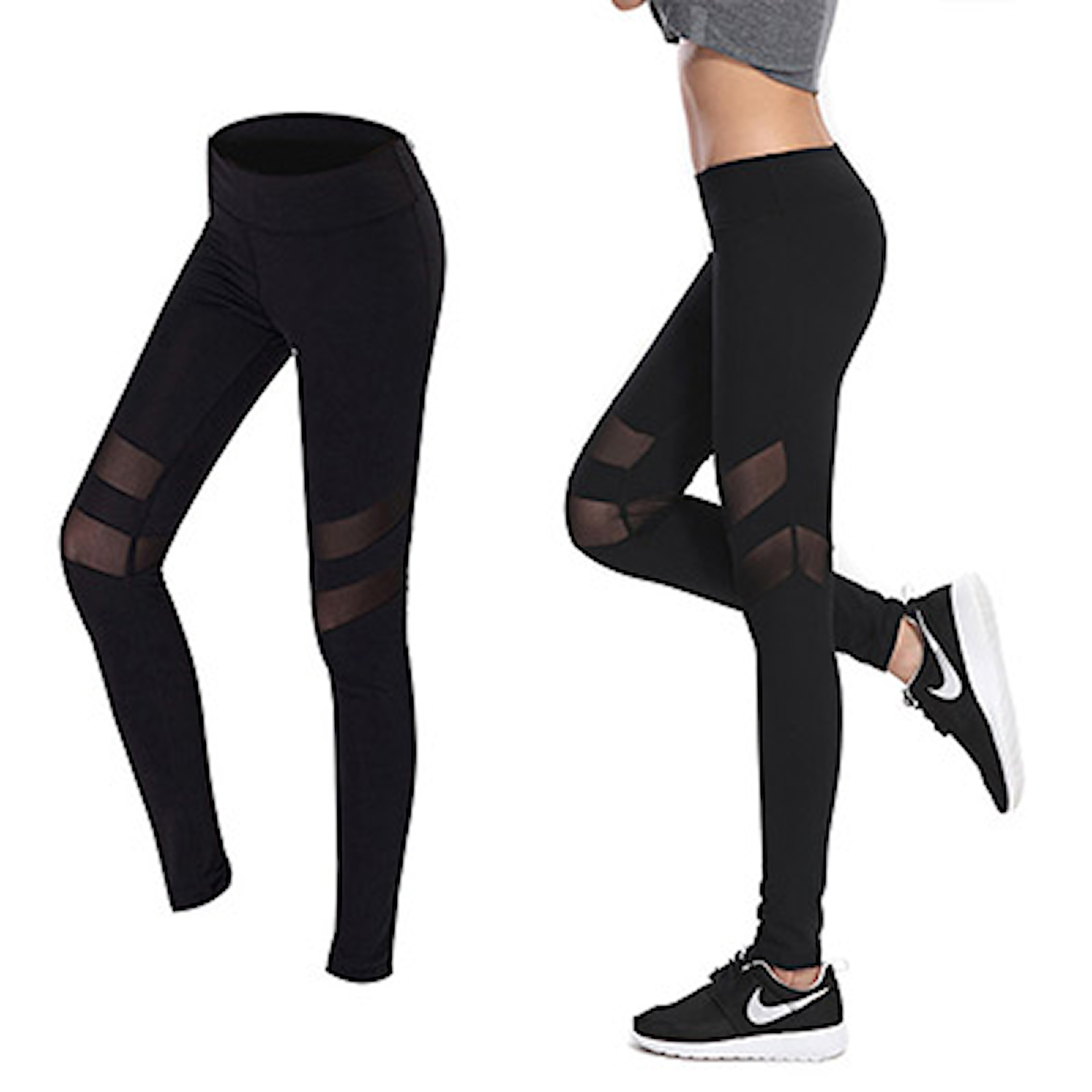 L, 3, Workout Tights With Details, Träningstights, ,