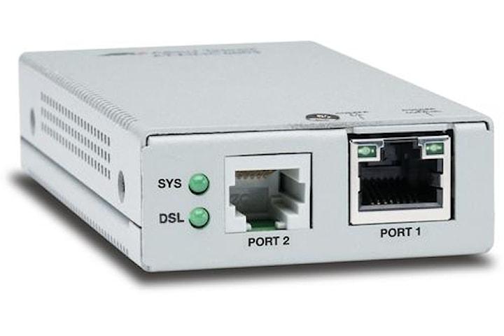 Allied Telesis AT-MMC6005-60, Nätverkssändare och -mottagare, 3000 m, 150 Mbit/s, 10,100,1000 Mbit/s, 10/100/1000Base-T(X), Silver