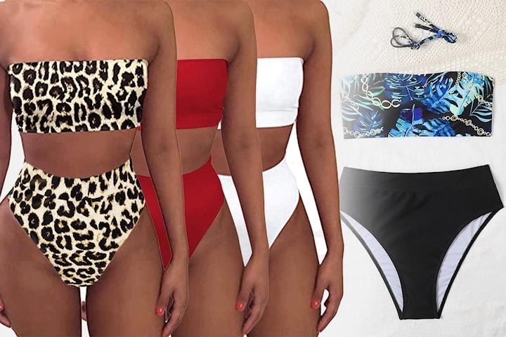 Bikini med høy midje