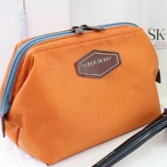 Orange, Travel Makeup Bag, Sminkväska, ,