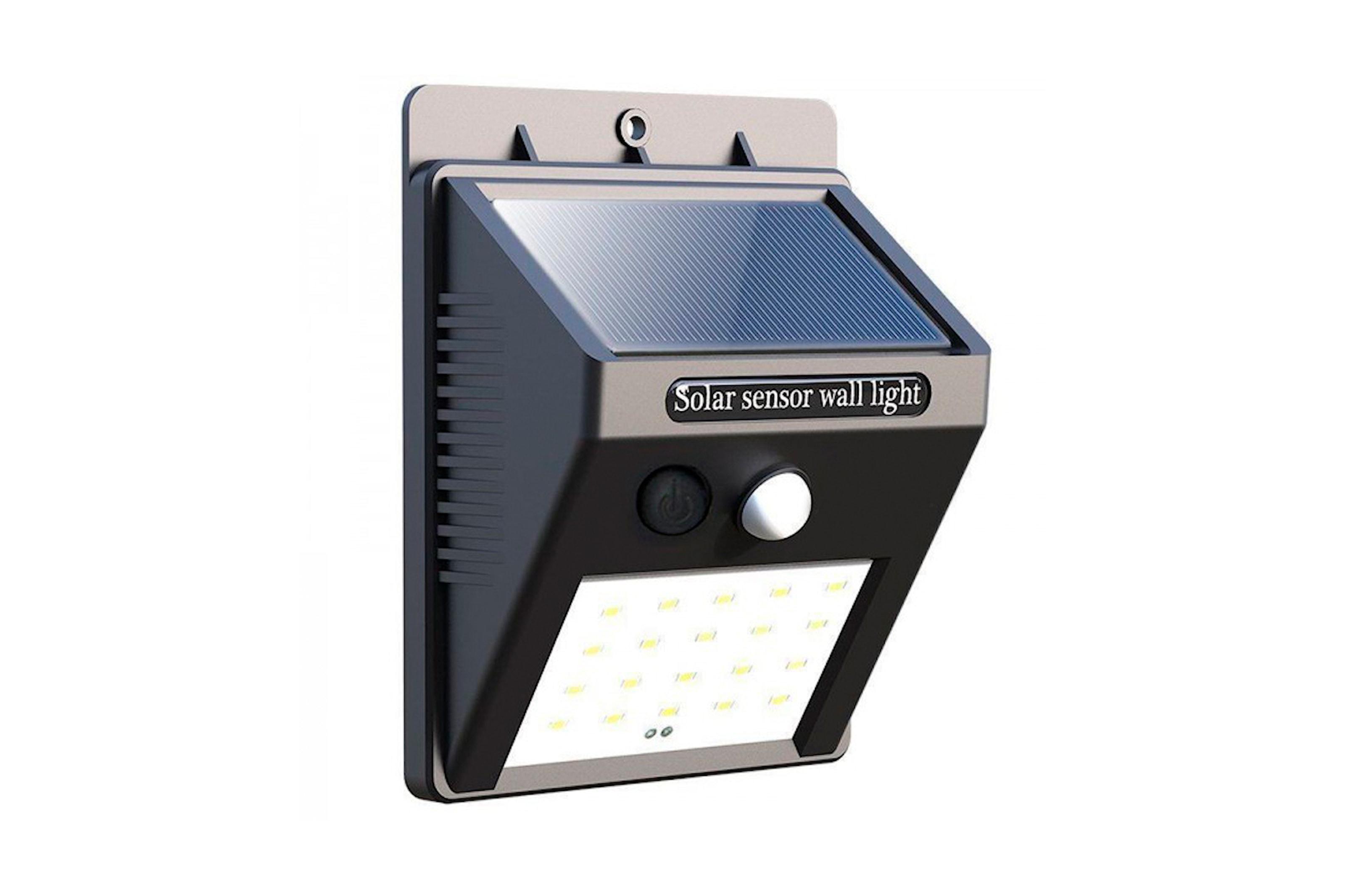 LED-lampa med solceller och rörelsesensor